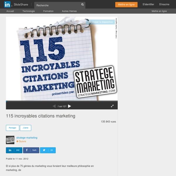 115 incroyables citations marketing