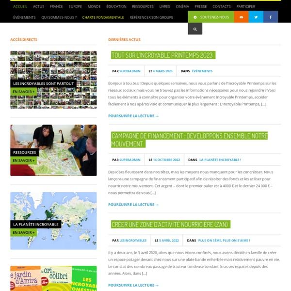 Les Incroyables Comestibles - Incroyables Comestibles France - Les Incroyables Comestibles - Incroyables Comestibles France