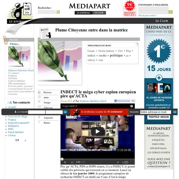 INDECT le méga cyber espion européen pire qu'ACTA