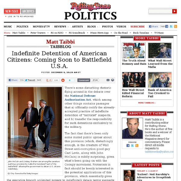 Indefinite Detention of American Citizens: Coming Soon to Battlefield U.S.A.