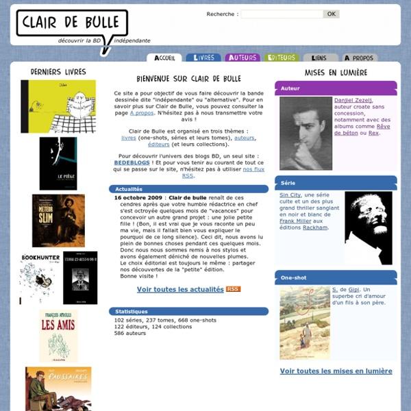 Clair de Bulle - Découvrir la BD indépendante, bande dessinée alternative