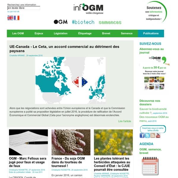 Inf'OGM - Veille citoyenne sur les OGM