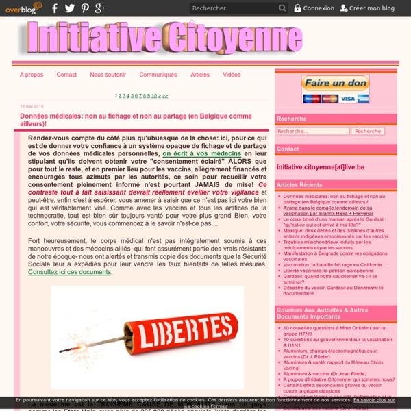 Le blog de Initiative Citoyenne -