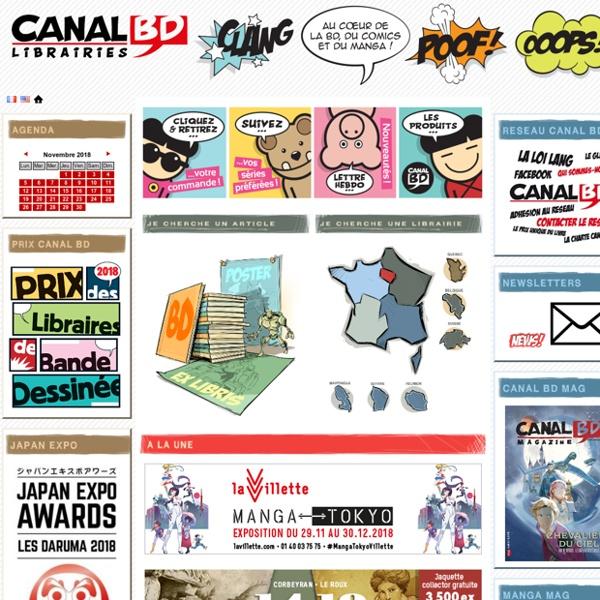 Le portail CANAL BD des librairies indépendantes spécialisées en bandes dessinées