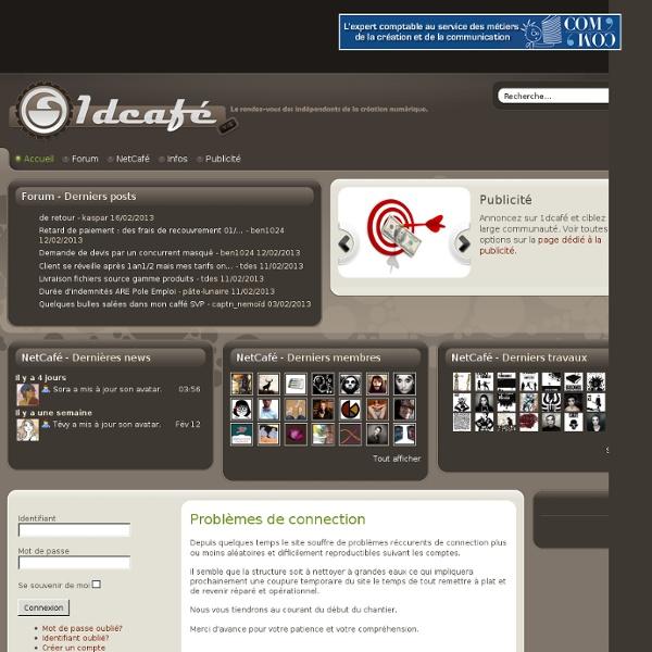 1dcafé - Le rendez-vous des créatifs indépendants, freelances MDA (maison des artistes) et Agessa.