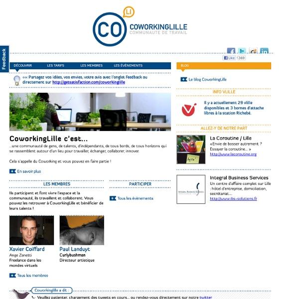 Coworking Lille - Communauté et espace de travail pour indépendants et télétravailleurs