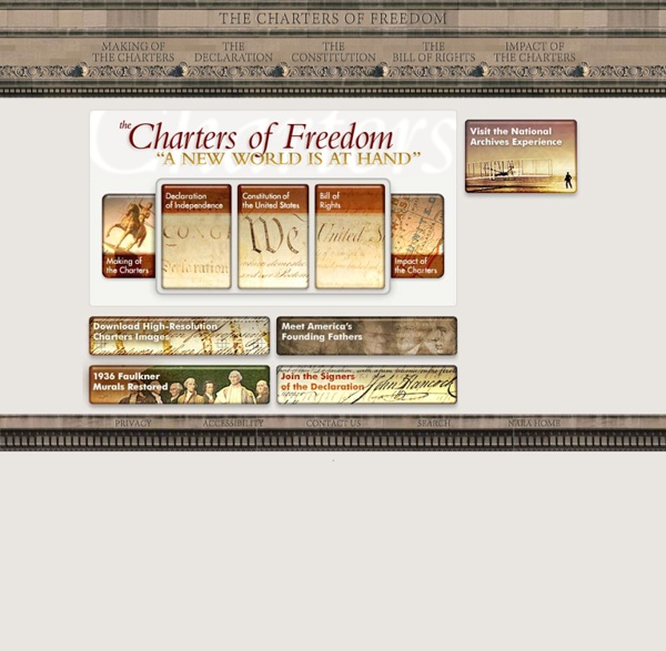 Charters of Freedom - The Declaration of Independence, The Constitution, The Bill of Rights