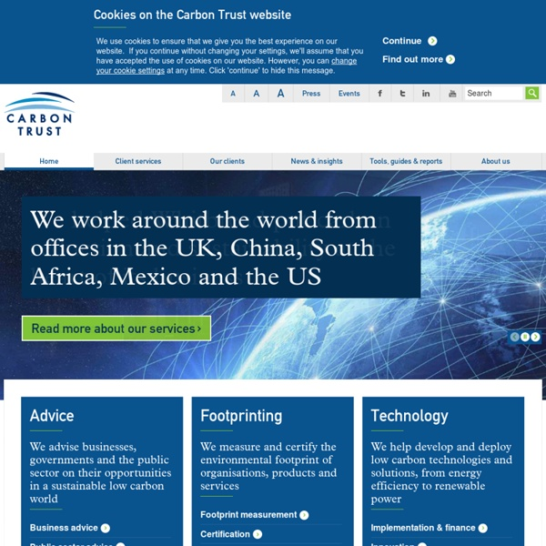 Carbon Trust independent experts on carbon reduction & sustainability