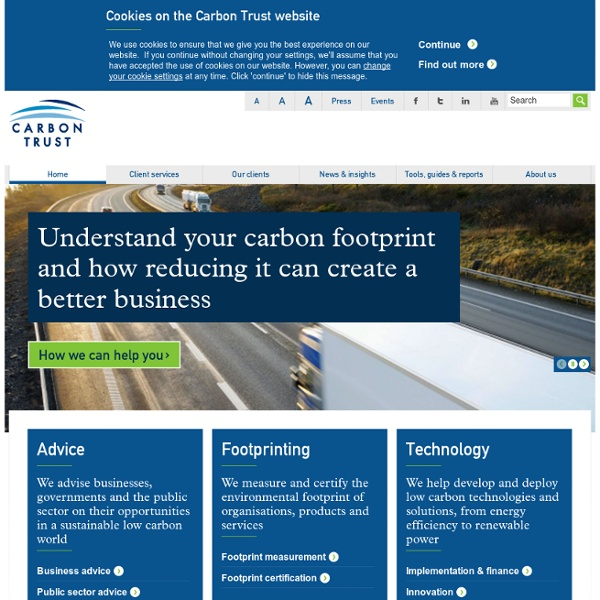 Carbon Trust – independent experts on carbon reduction
