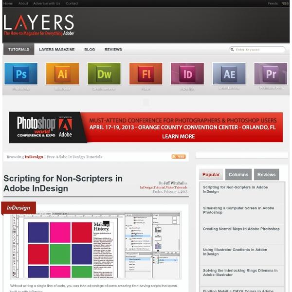 InDesign « Layers Magazine Layers Magazine