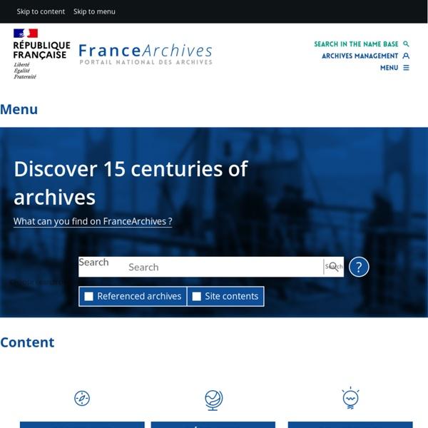 Index (FranceArchives)