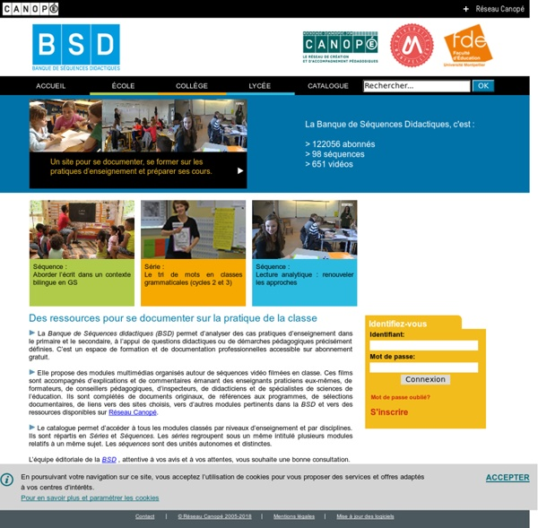 Banque de séquences didactiques - CRDP académie de Montpellier