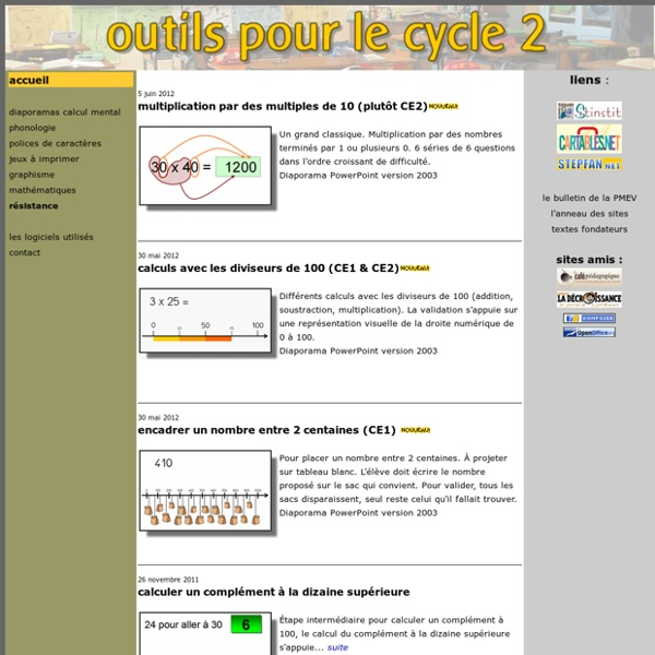 Outils pour le cycle 2
