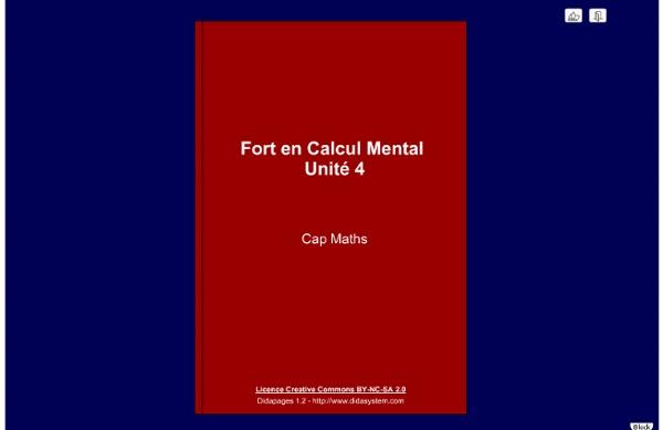 Calcul mental - unité 4