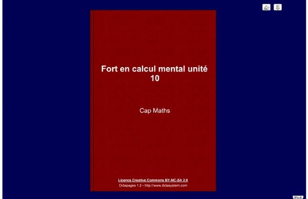 Calcul mental - unité 10
