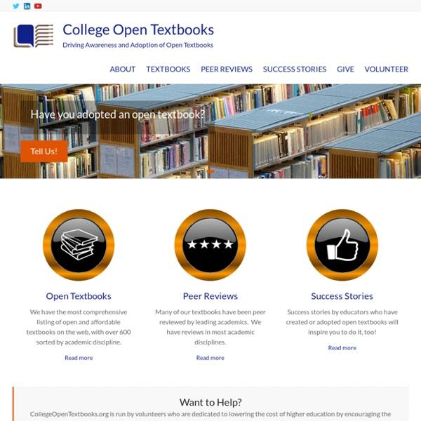 College Open Textbooks