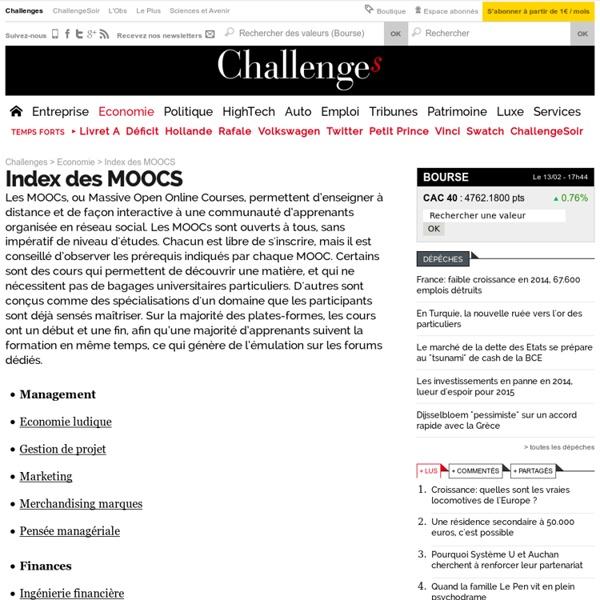 Index des MOOCS