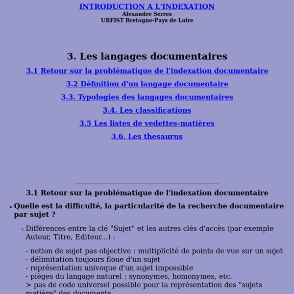 Indexation4Langages