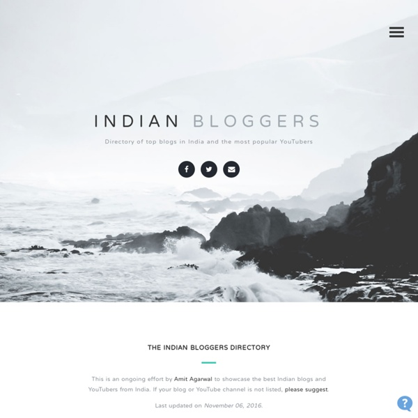 Best Indian Blogs - Directory of Most Popular Blogs in India