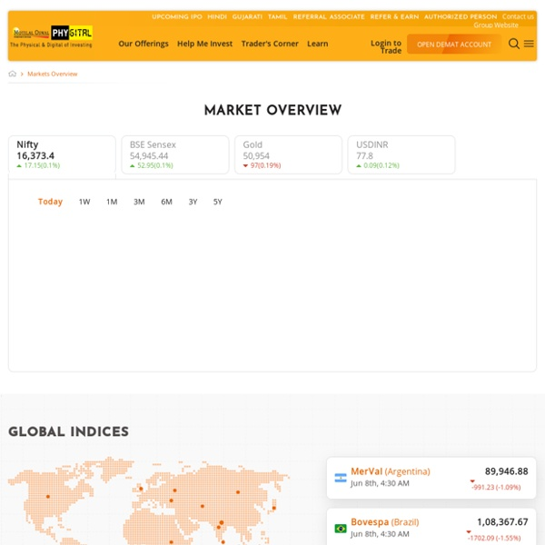 Indian Stock Market Live: Intraday Trading Online In NSE and BSE - Motilal Oswal