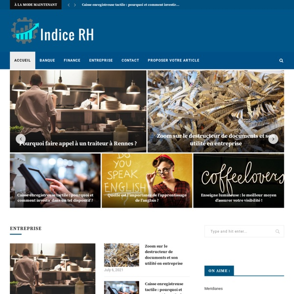Indice RH - Blog Finance et entreprise -