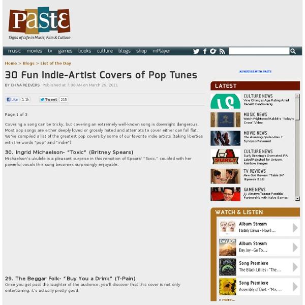 30 Fun Indie-Artist Covers of Pop Tunes
