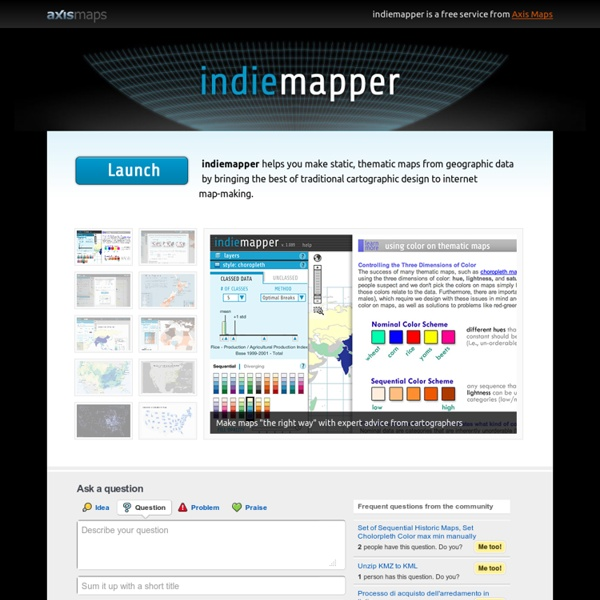 Indiemapper - Free yourself from GIS