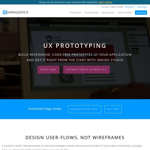 Indigo Studio - wireframing tool - Interaction Design Tool