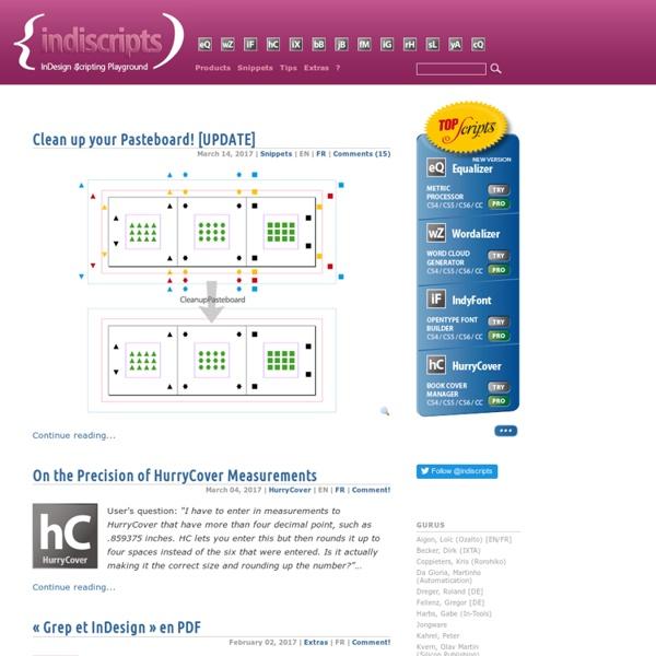 Indiscripts - InDesign Scripting Playground