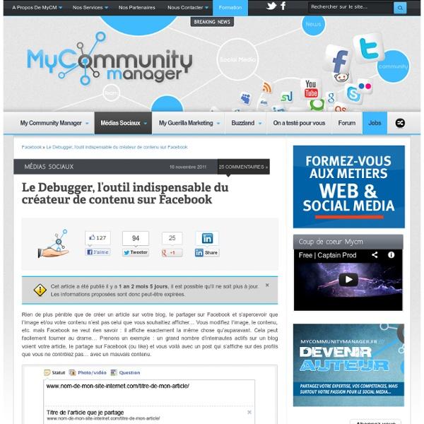 Le Debugger, l'outil indispensable du créateur de contenu sur Facebook