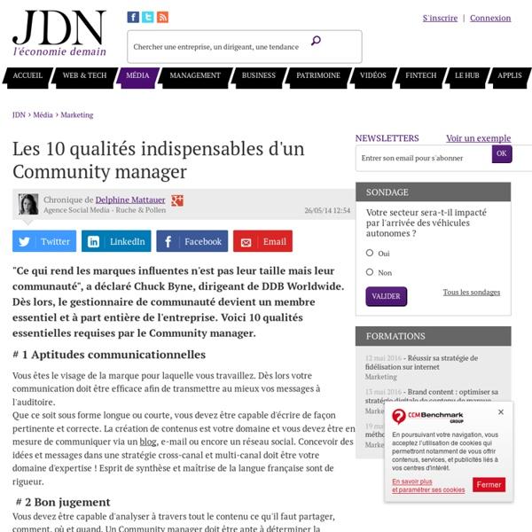 Les 10 qualités indispensables d'un Community manager