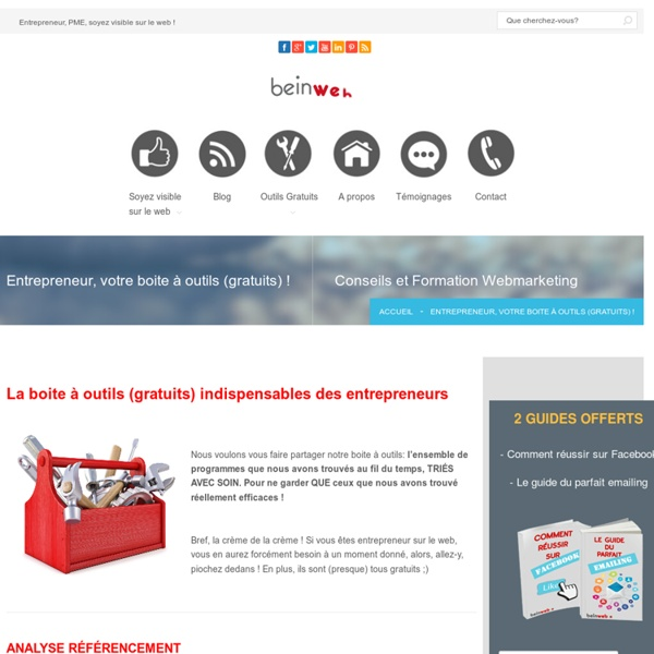Les outils (gratuits) indispensables des entrepreneurs