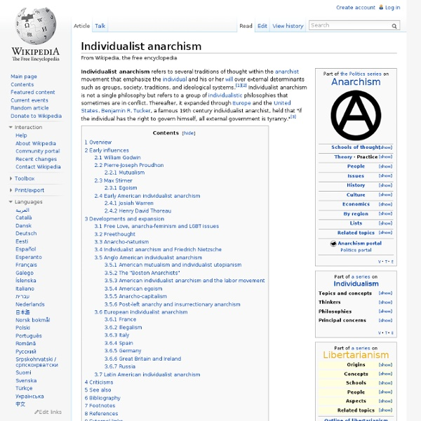 Individualist anarchism