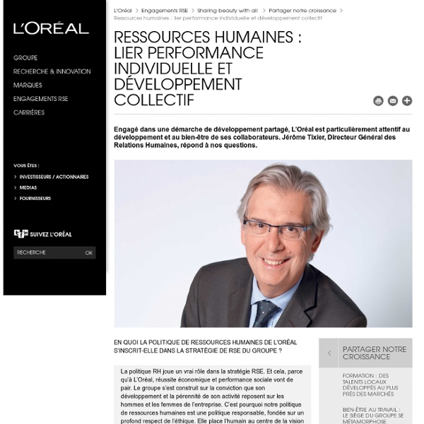 Ressources Humaines chez L'Oréal