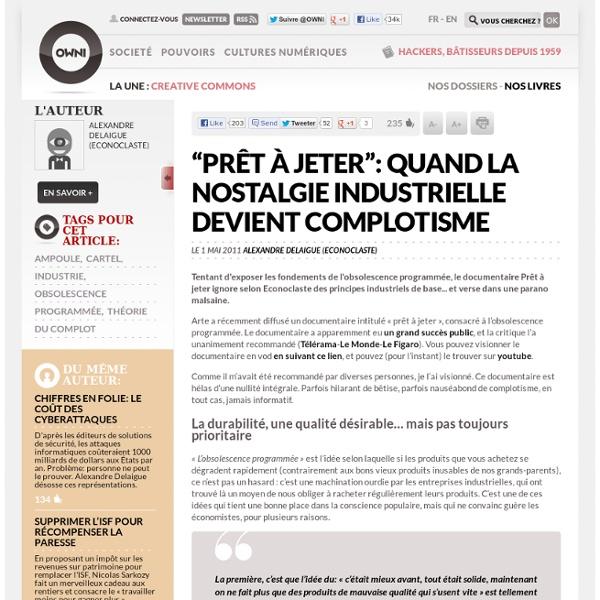 """""""Prêt à jeter"""": quand la nostalgie industrielle devient complotisme"""