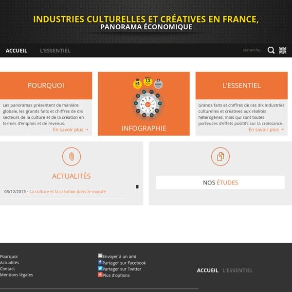 Industries culturelles et créatives en France, Panorama économique - Accueil