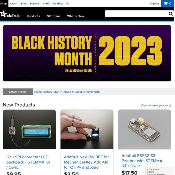 Adafruit Industries, Unique & fun DIY electronics and kits