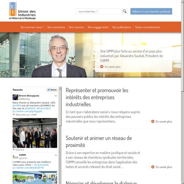 UIMM - Union des Industries et des Métiers de la Métallurgie