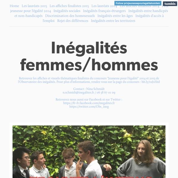 Inégalités hommes-femmes. Observatoire des inégalités.