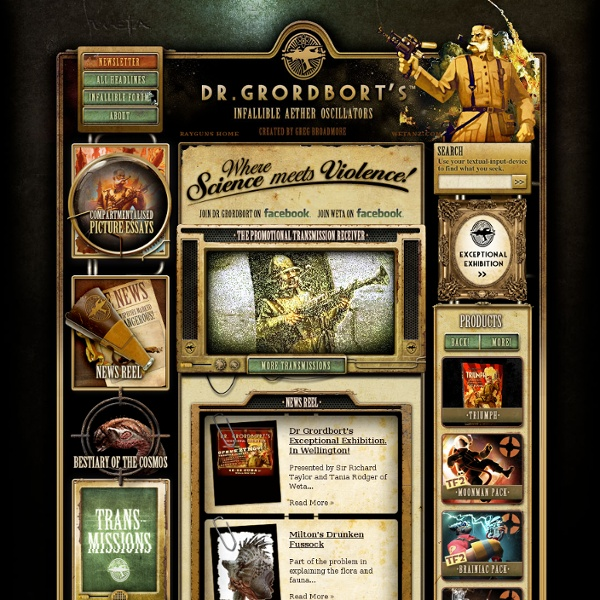 Dr Grordbort's Infallible Aether Oscillators - Rayguns, beasts, buffoons and fair maidens!