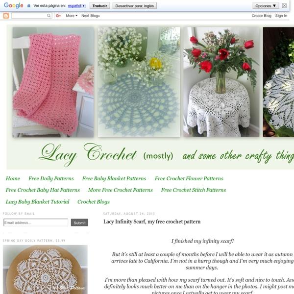 Lacy Infinity Scarf, my free crochet pattern