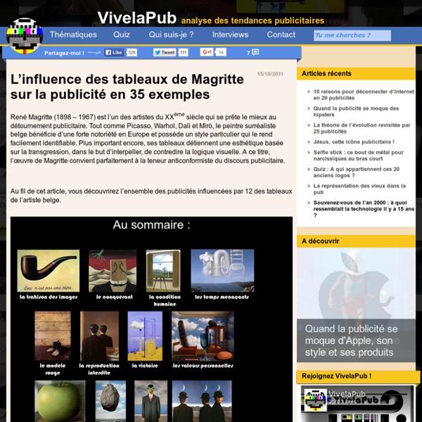 L'influence des tableaux de Magritte sur la publicité en 35 exemples - VivelaPub, le blog d'analyse des tendances publicitaires