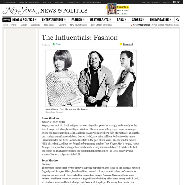 The Most Influential People in Fashion