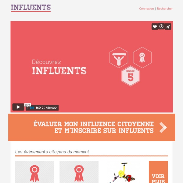 Influents - Accueil