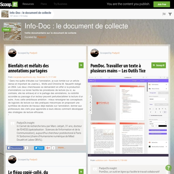 Info-Doc : le document de collecte