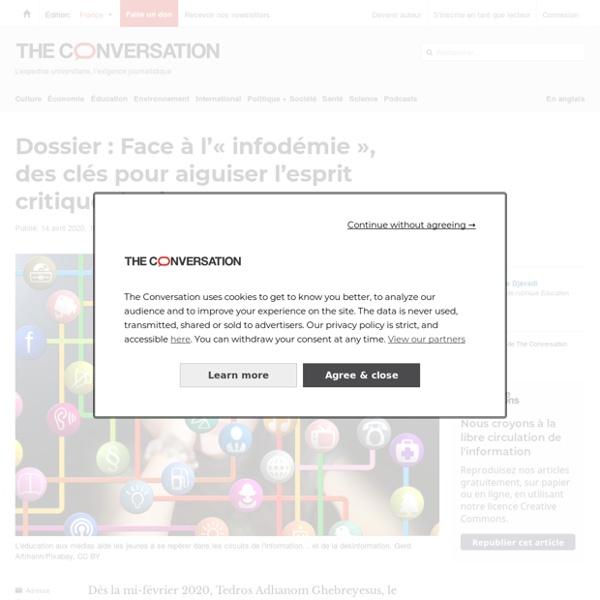Dossier: Face àl'«infodémie», desclés pour aiguiser l'esprit critique desjeunes