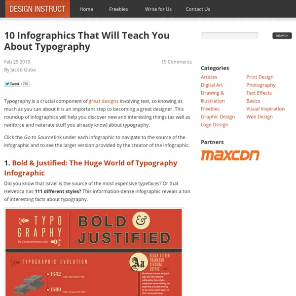 10 Infographics That Will Teach You About Typography