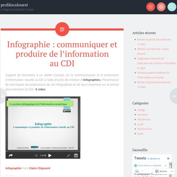 Infographie : communiquer et produire de l'information au CDI