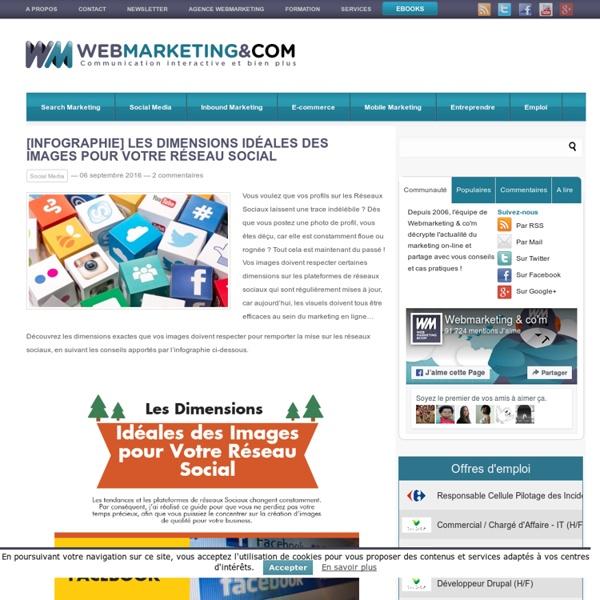 ▷ [Infographie] Les Dimensions Idéales des Images pour Votre Réseau Social