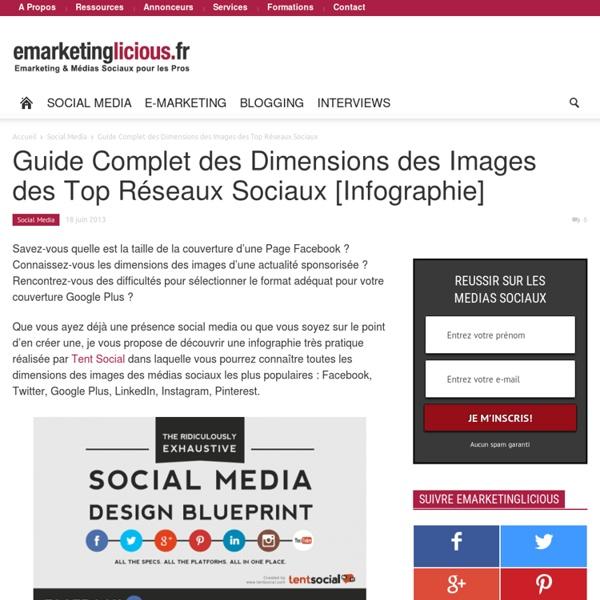 Guide Complet des Dimensions des Images des Top Réseaux Sociaux [Infographie]
